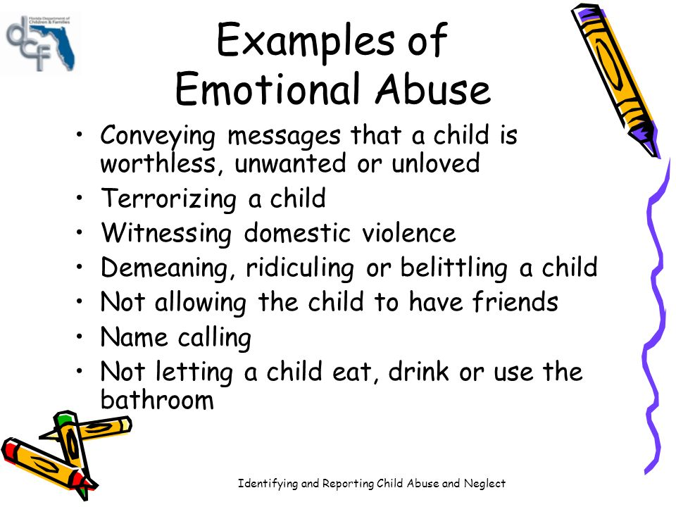 unwanted effects of child abuse Sexual abuse that occurs during a child's development can have adverse effects  on certain developmental processes, such as emotional regulation, cognitive.