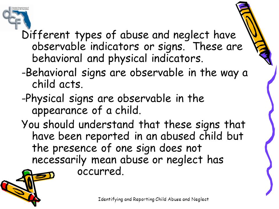 understanding the different forms of child maltreatment Get more information on types of abuse child abuse and safeguarding children - how to recognise abuse or a understanding the needs of children in.