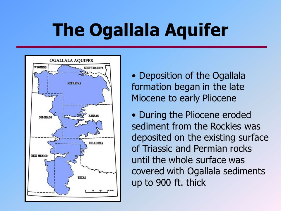 the ogallala aquifer Water whether it falls from the sky or is pumped from the ogallala aquifer, water is of central importance to the high plains economy and way of life.
