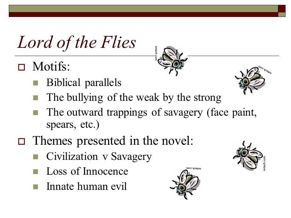 lord of the flies theme Lesson 3 involves distinguishing between a literary topic and a literary theme it articulates a variety of william golding's themes implicit in the novel lord of.