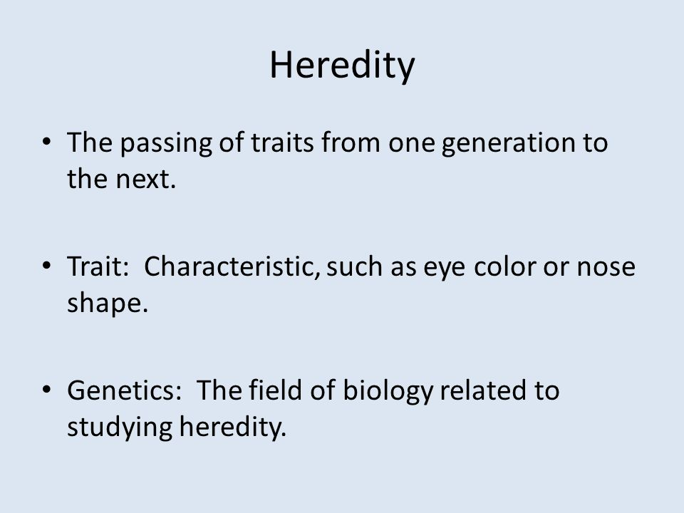 Chapter 4 Heredity and Genes. - ppt download