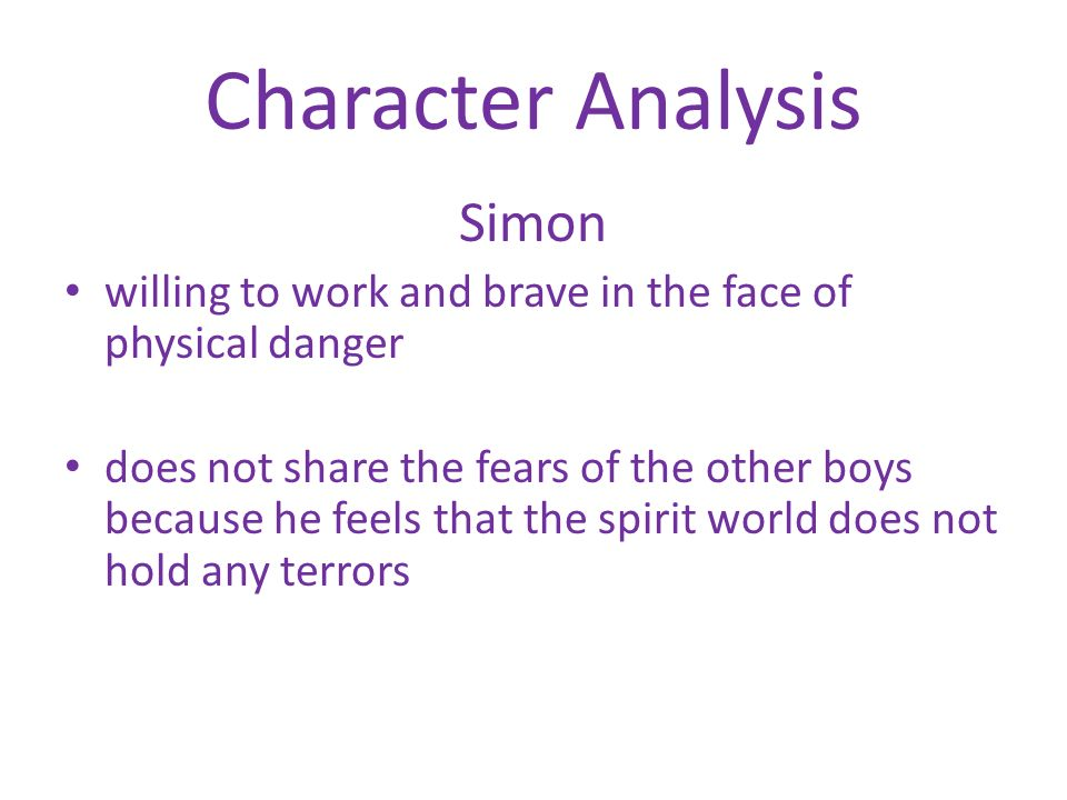 a character analysis of simon in lord of the flies by william golding Analysis and discussion of characters lord of the flies characters william golding how does piggy behave or act in lord of the flies (character traits.