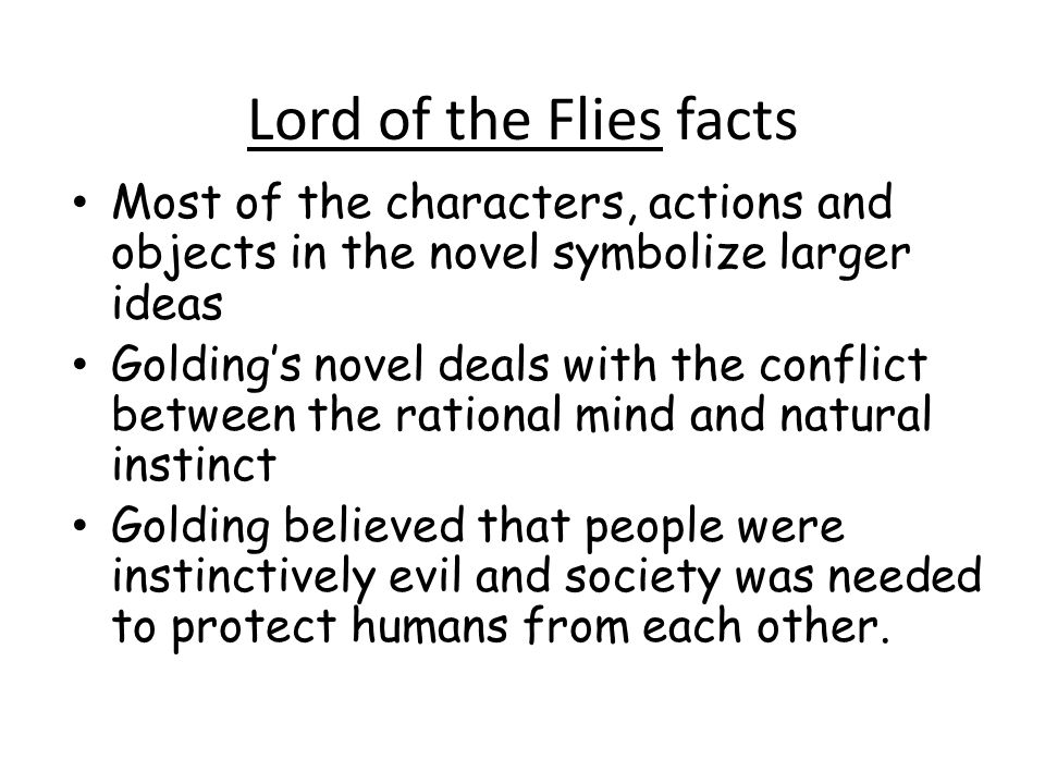 lord of the flies our society Lord of the flies individual vs so the theme of individualism versus society is portrayed in golding's lord of the please send us your information so our.
