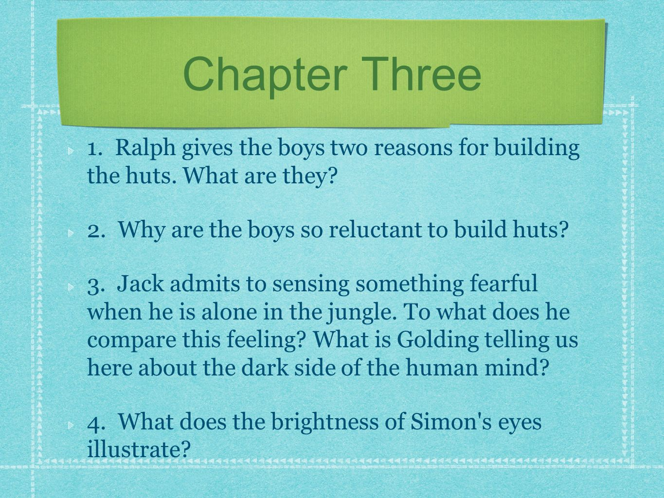 The lord of the flies resources ppt download ralph gives the boys two reasons for building the huts what biocorpaavc