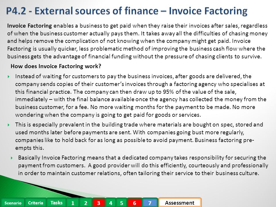 External sources of finance for start ups