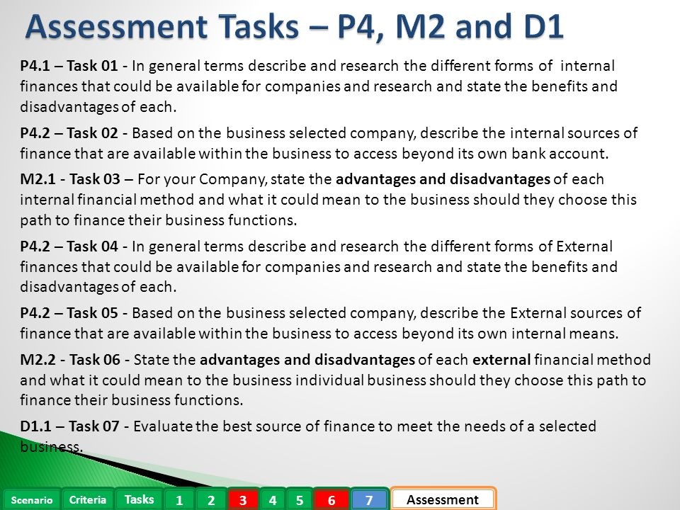 p4 describe sources of internal and external finance for a selected business 2014-4-17 ocr level 3 cambridge technical  p4 describe sources of internal and external finance for a selected business.