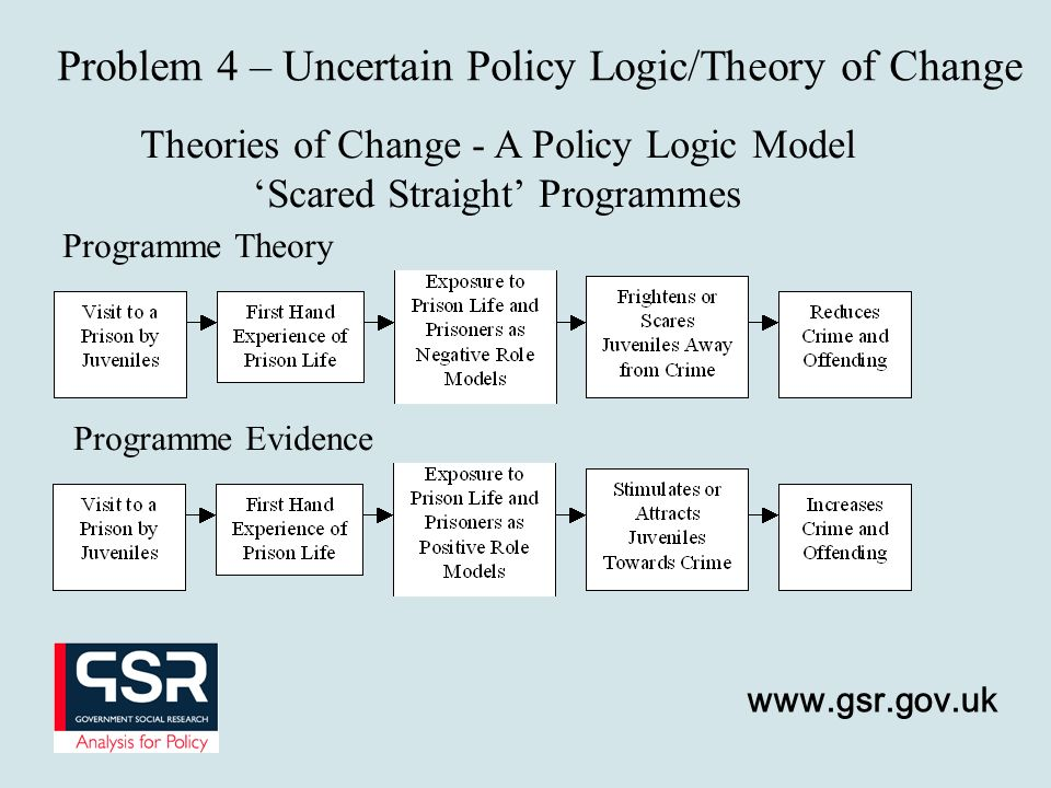 Problem 4 – Uncertain Policy Logic/Theory of Change