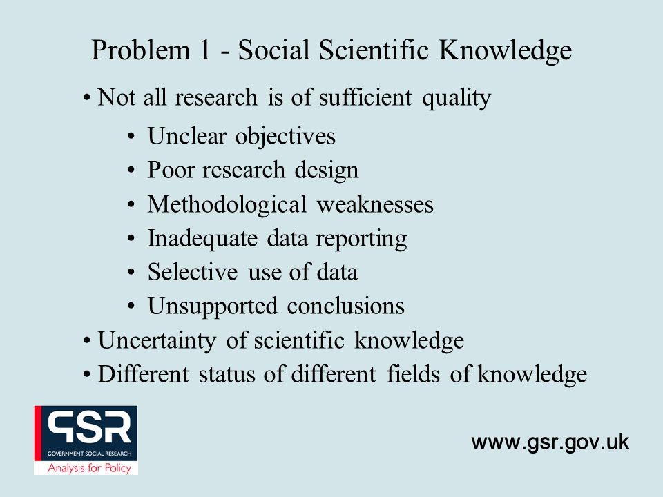 Problem 1 - Social Scientific Knowledge