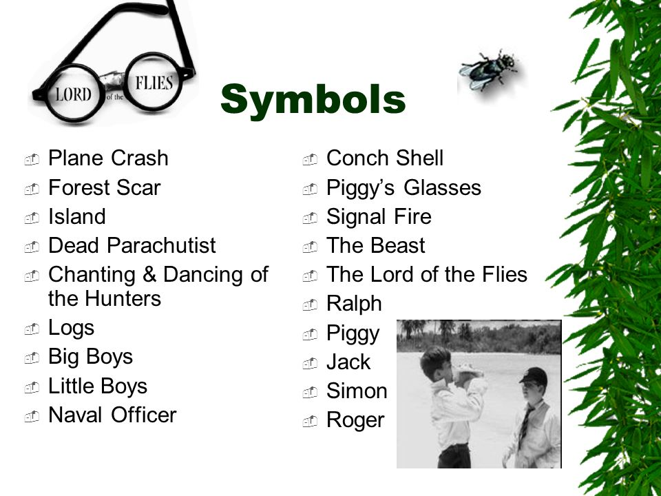 lord of the flies william golding ppt video online  6 symbols