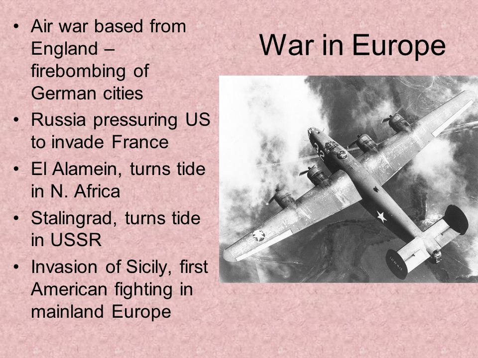 Air war based from England – firebombing of German cities