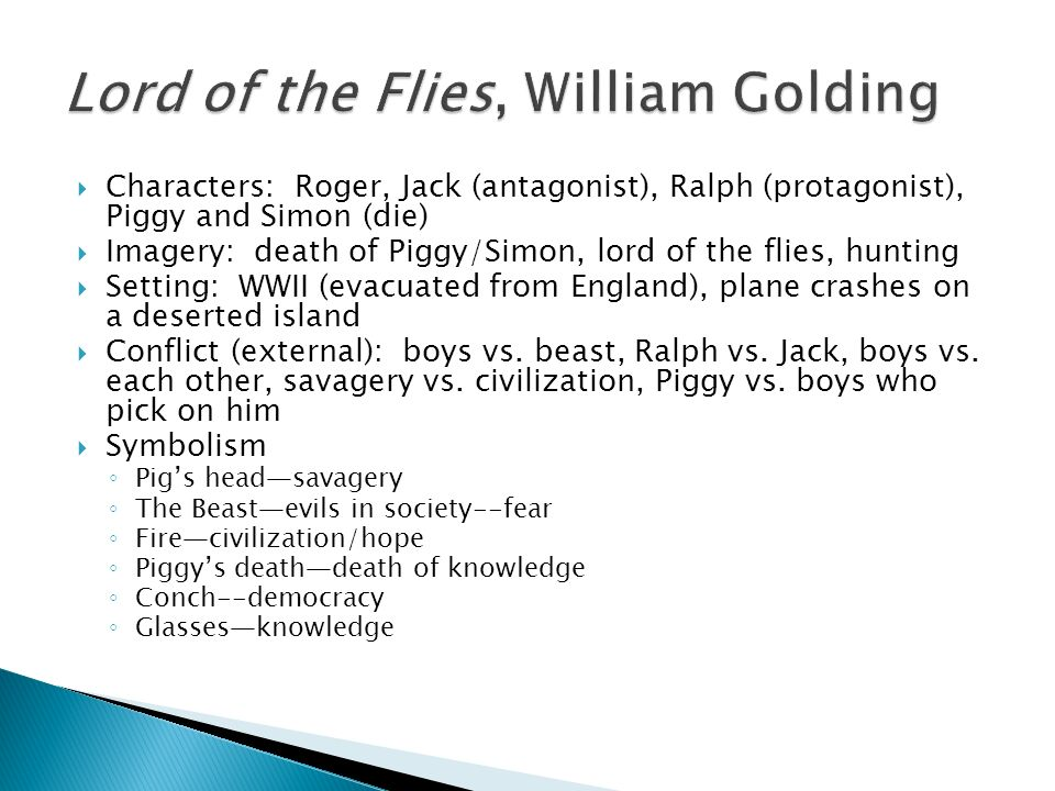 Symbolism in William Golding's Lord of the Flies