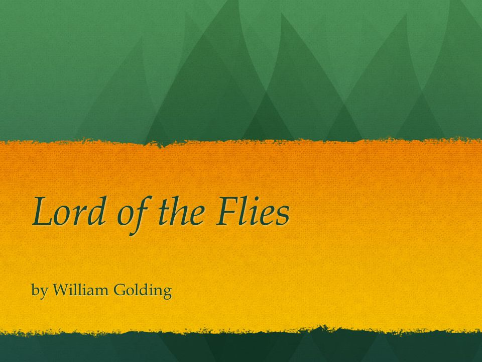 gender in the lord of flies by william golding William golding's novel lord of the flies exhibits key characteristics of several different literary genres first and foremost, it is an allegory that uses.
