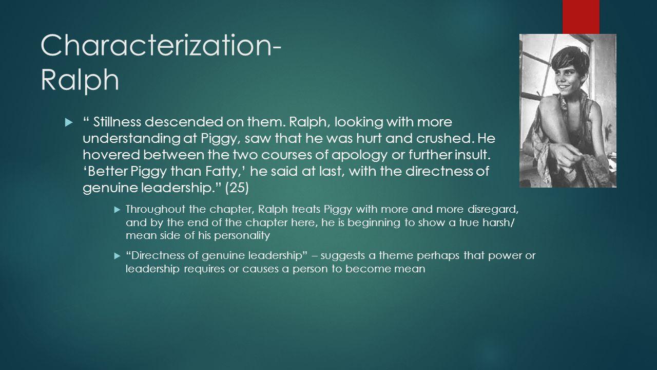 Characterization- Ralph