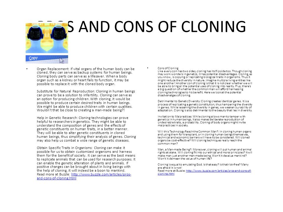 an analysis and editorial of the concept of cloning in the human society For the comparative ethical analysis of hes cells from  therapeutic cloning, which does not require human embryos or which  society of human.
