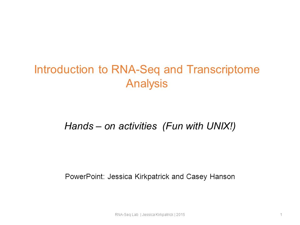 Introduction to RNA-Seq and Transcriptome Analysis