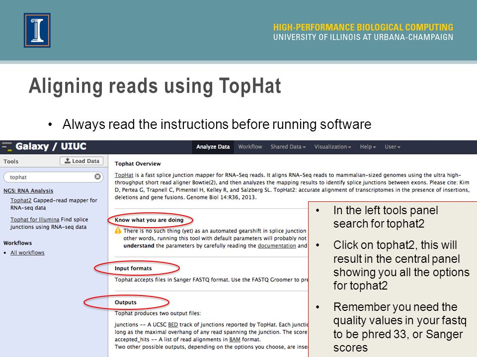 Aligning reads using TopHat