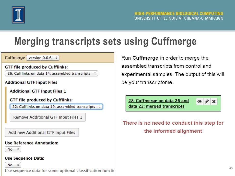 Merging transcripts sets using Cuffmerge