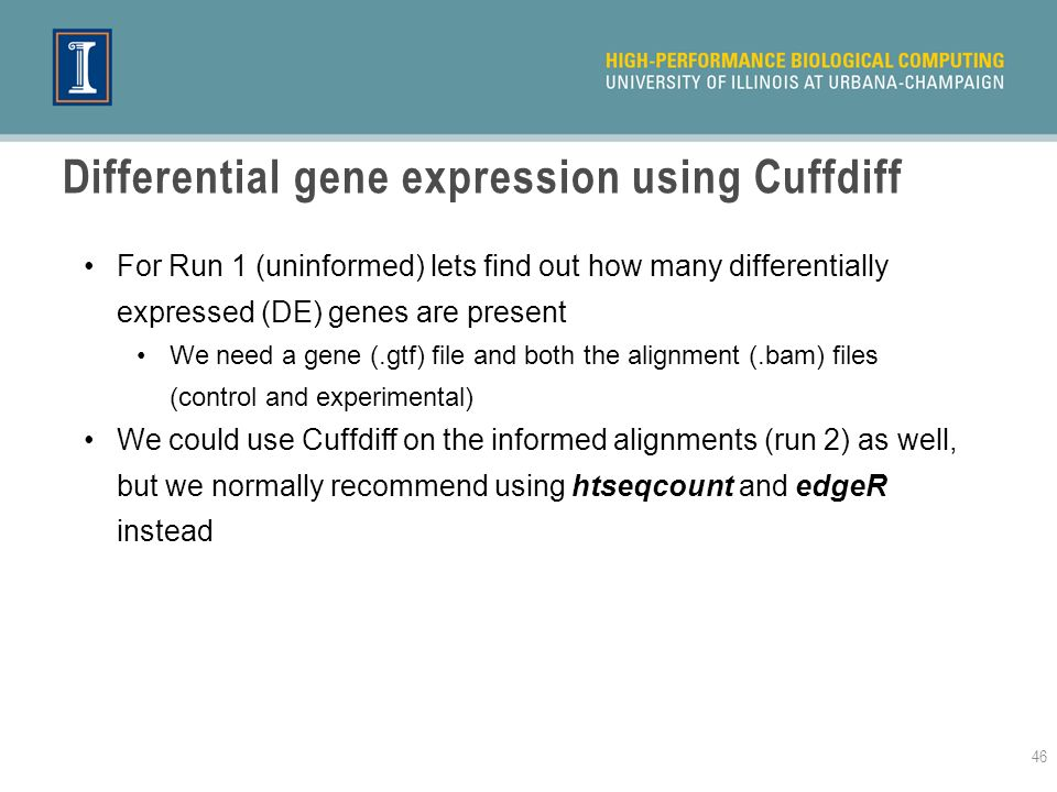 Differential gene expression using Cuffdiff