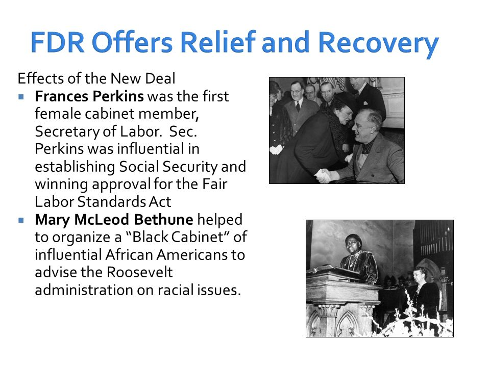 president roosevelt s goals recovery relief and Us history chapter 9 study play  what did president roosevelt introduce to help retirees  the first new deal had three goals: relief, recovery, and reform choose two of the laws or programs created by the first new deal and explain how the program met (or did not meet) its intended goal.