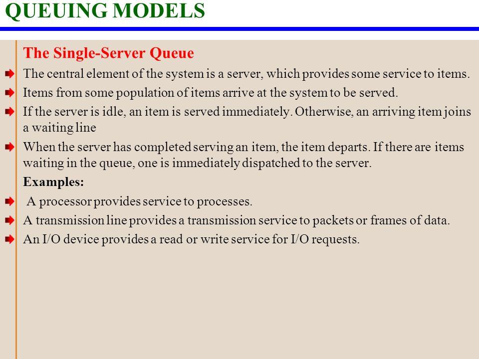 Single server queuing models