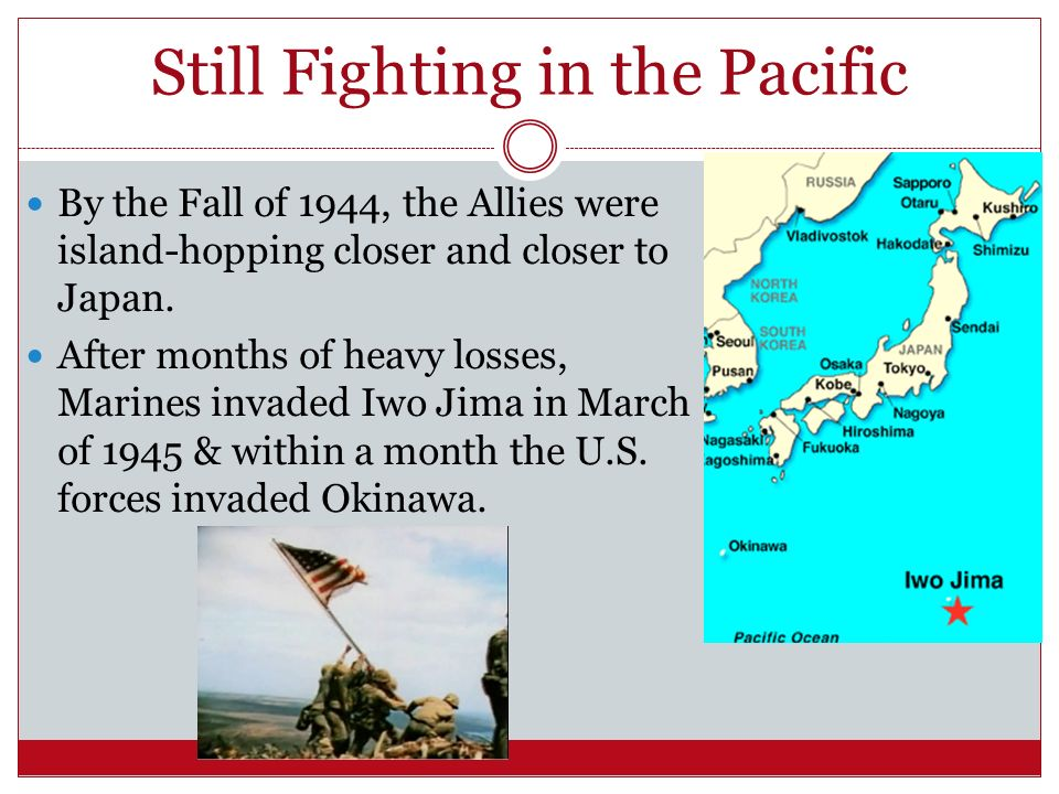 Still Fighting in the Pacific