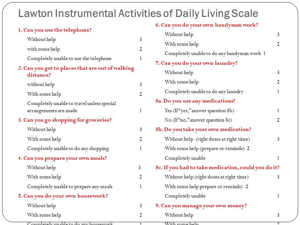 Comprehensive Geriatric Assessment - ppt download