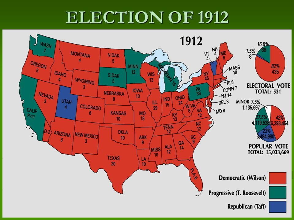 presidential election of 1912 essay The presidential election of 1912 was called one of the most important and memorable elections as well as one of the most dramatic events in american history.