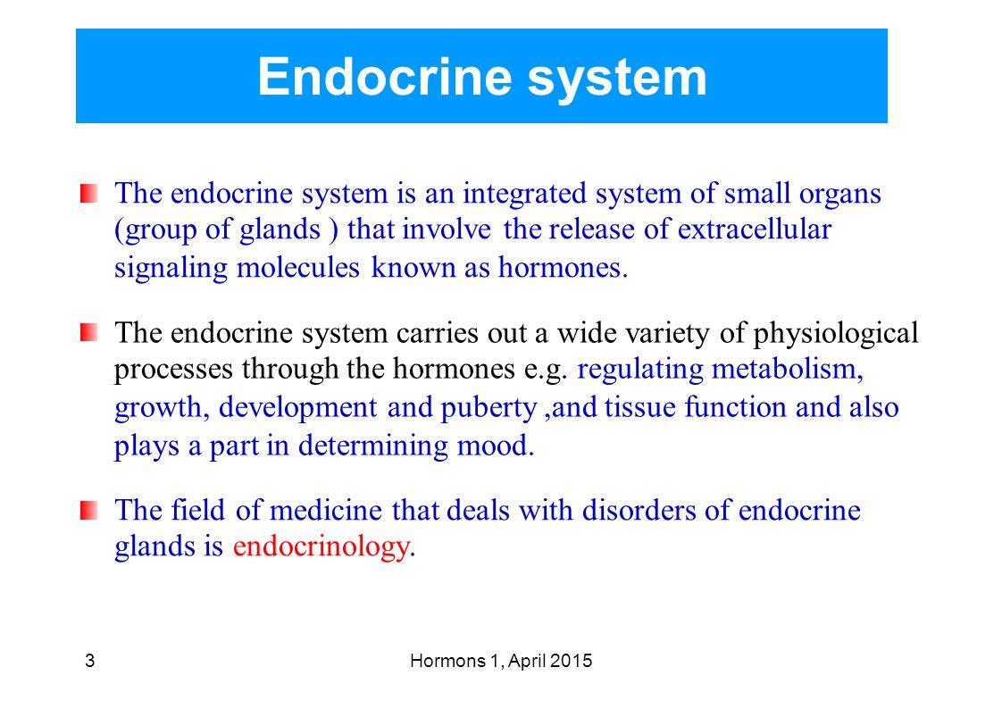 endocrine system system of glands