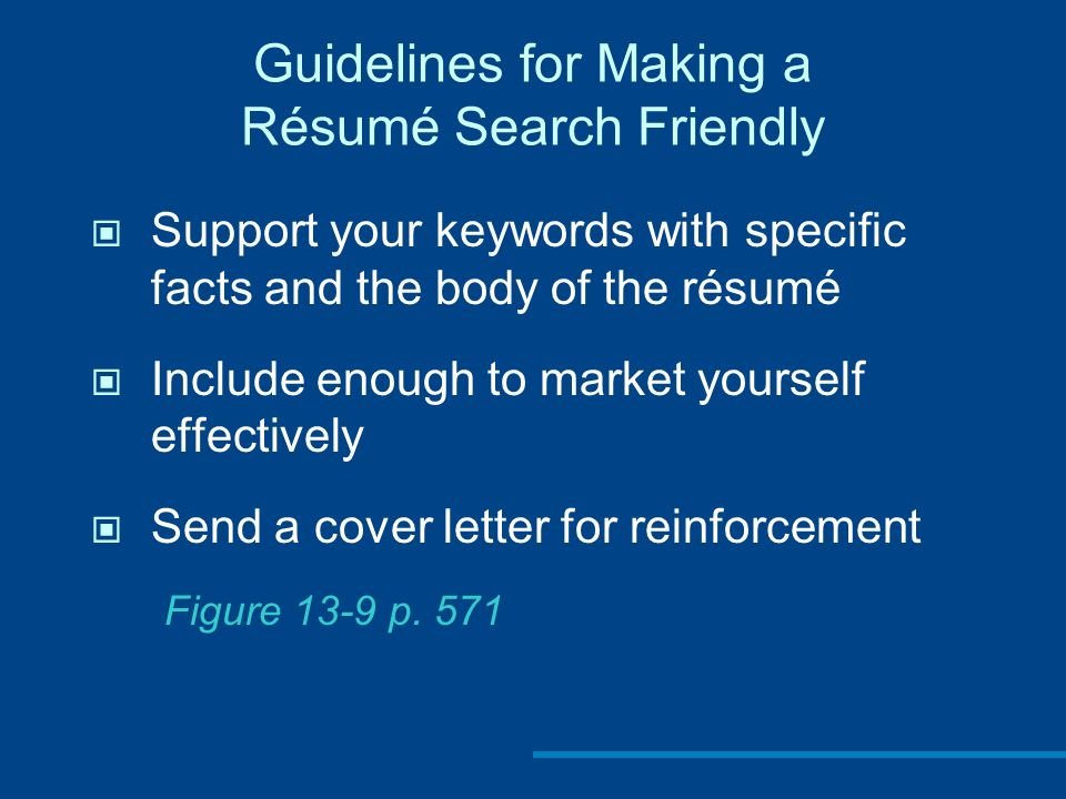 Chapter 13 Preparing Résumés And Application Letters. - Ppt Video