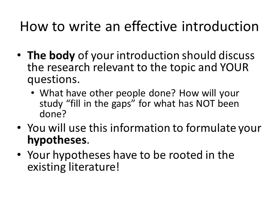 How to Write a Research Paper Introduction?