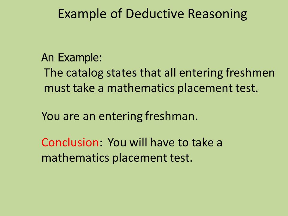 Example of Deductive Reasoning
