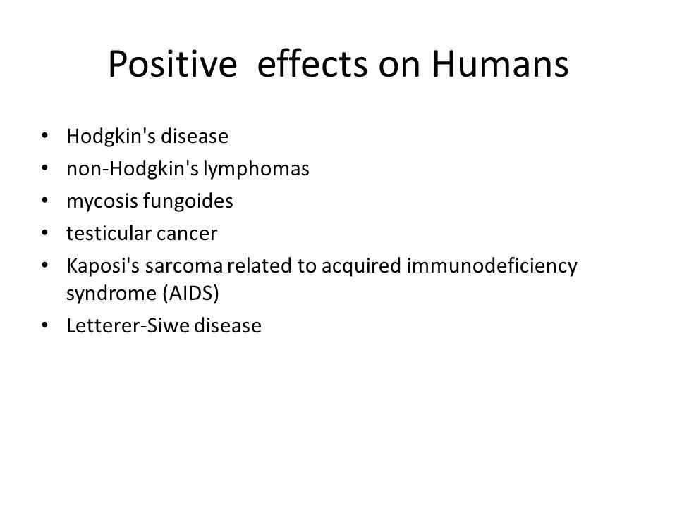 Positive effects on Humans