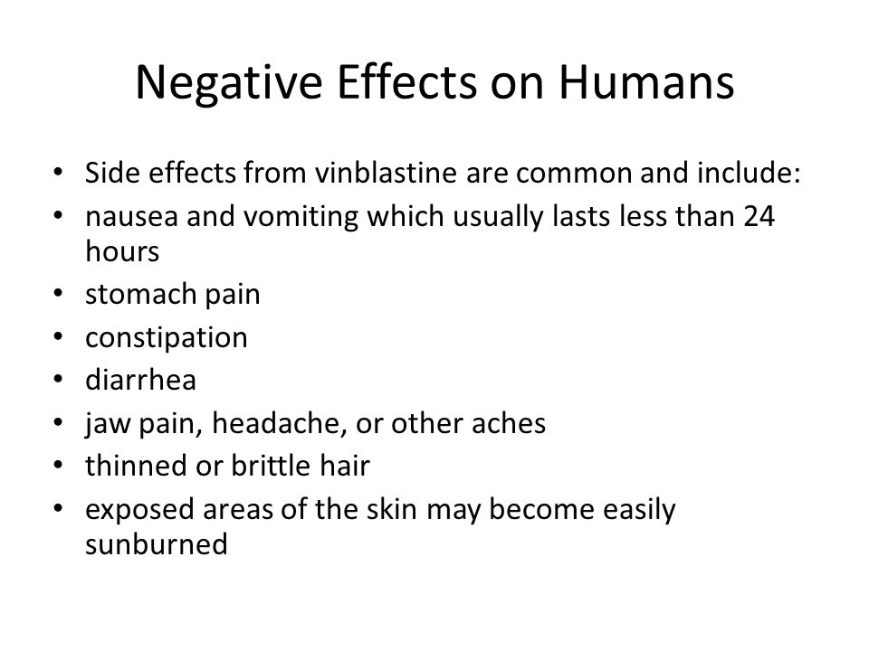 Negative Effects on Humans