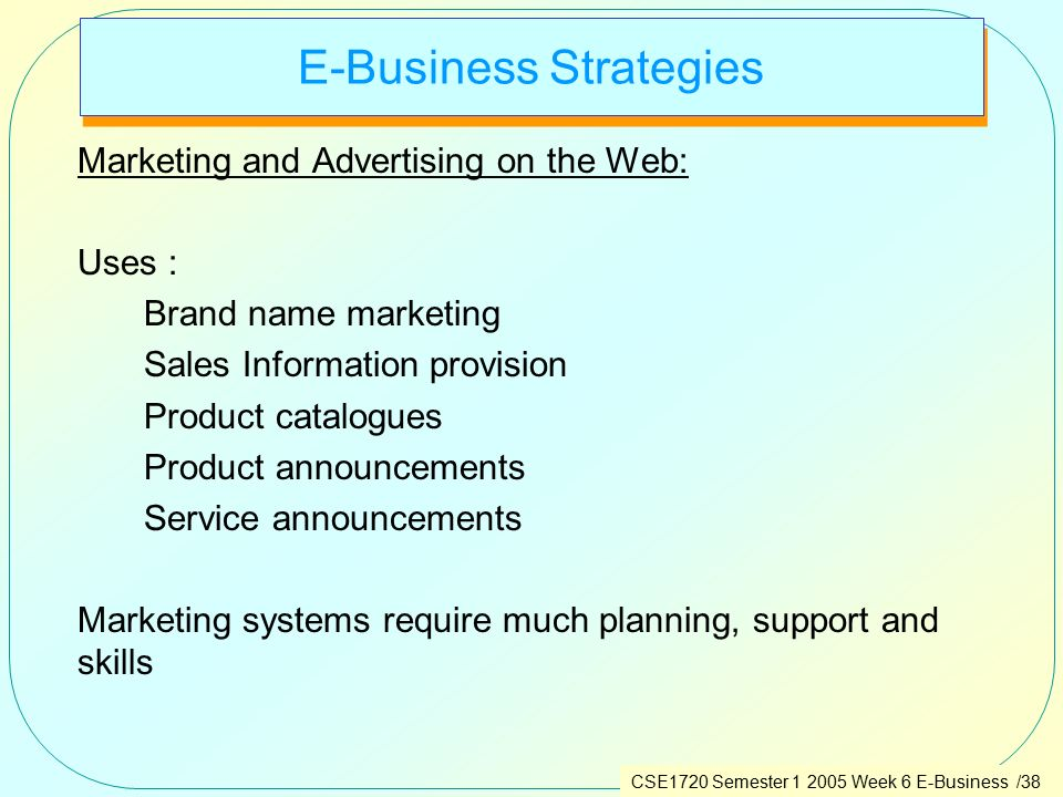 e business strategy E-business strategy, sourcing and governance is based on the premise that it is difficult, if not impossible, to manage a modern business or public organization without at least some knowledge of the planning, use, control.