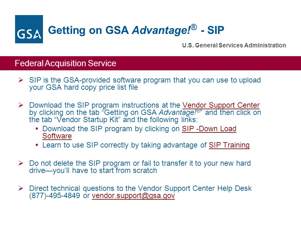 Getting On Gsa Advantage Sip