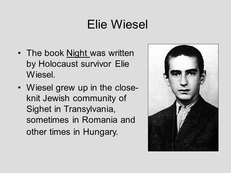 "book response elie wiesel night Books such as ""the boy in the striped pajamas,"" ""schindler's list,"" and ""the   adding to the list of insightful novels, ""night"" by elie wiesel is."