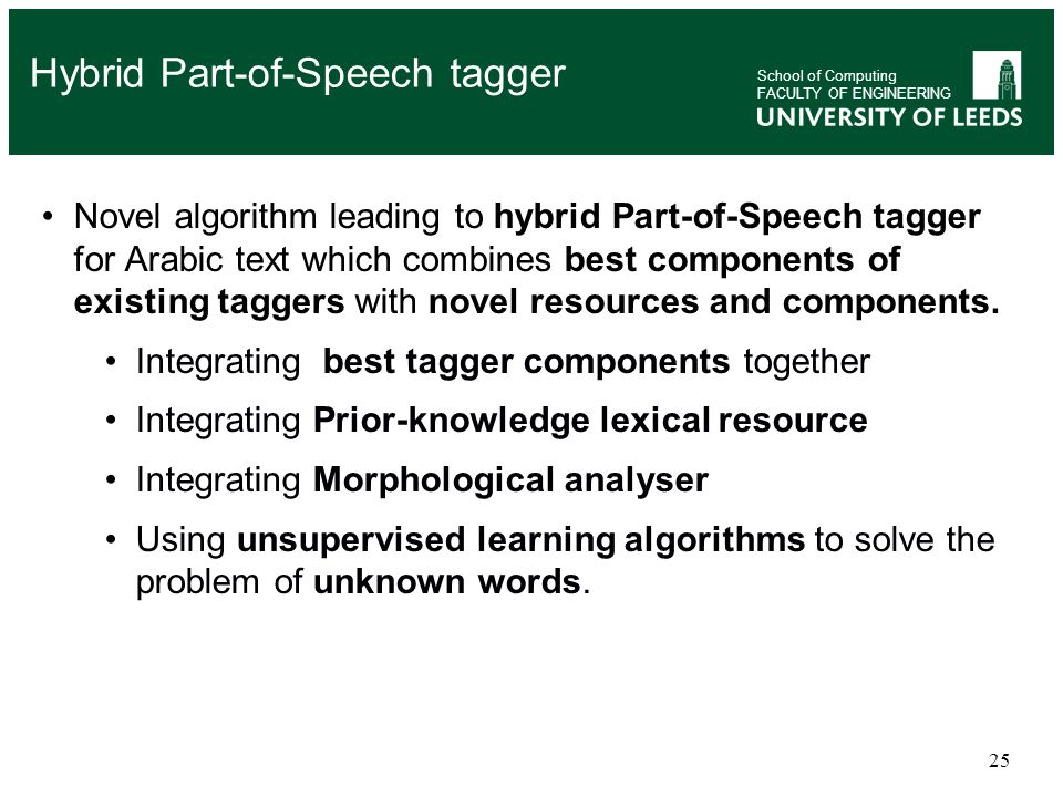 Hybrid Part-of-Speech tagger