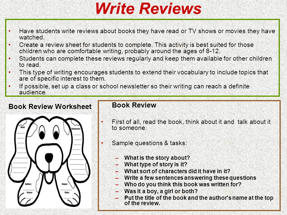 who can write me a book review for a class Writing a good book review is an art in and of itself, with the lofty goals of entertaining the reader, offering thoughtful opinions on the value of the book, and backing those opinions up with careful analysis the best book reviewers are well respected professionals, whose opinions guide curious.