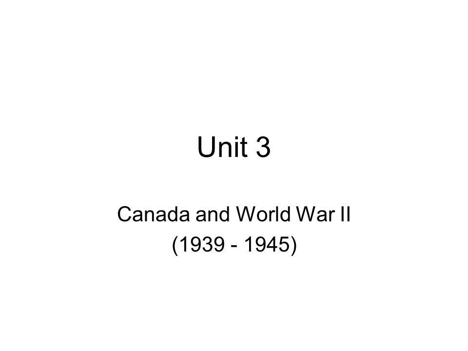 Canada and World War II (1939 - 1945)