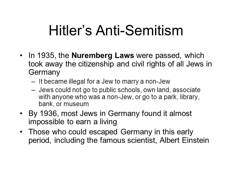 Hitler's Anti-Semitism