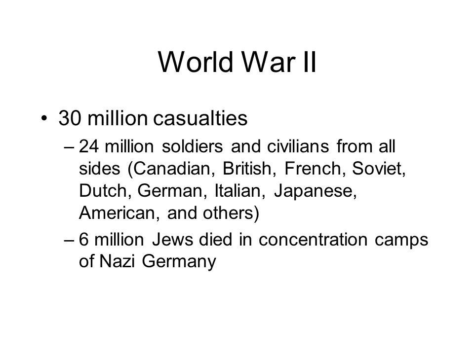 World War II 30 million casualties