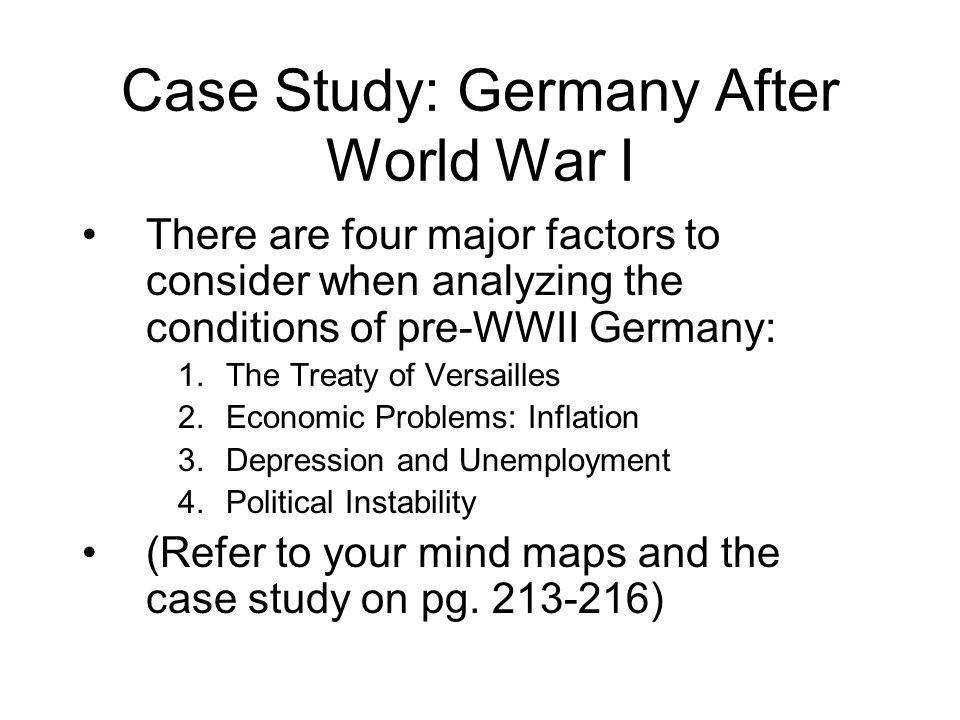 Case Study: Germany After World War I