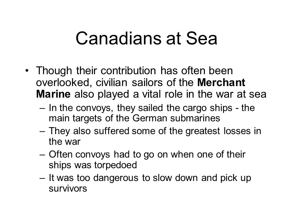 Canadians at Sea