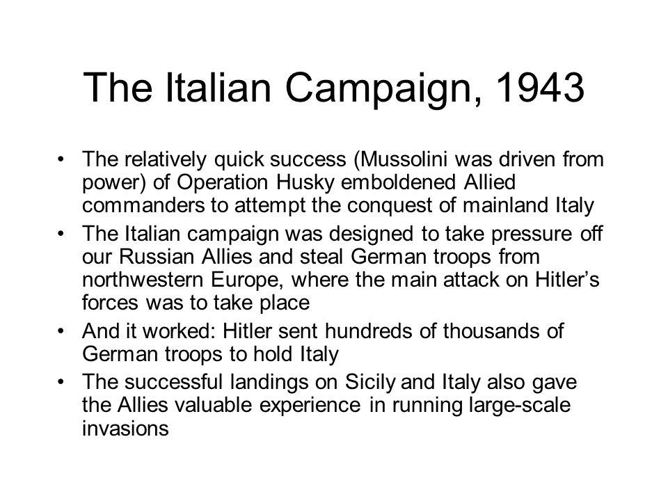 The Italian Campaign, 1943