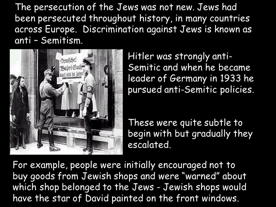 nazi party and the discrimination of jews in germany Get an answer for 'how did the nazi party remove the rights of the jewish people' and find  discrimination against the jews began  in nazi germany.