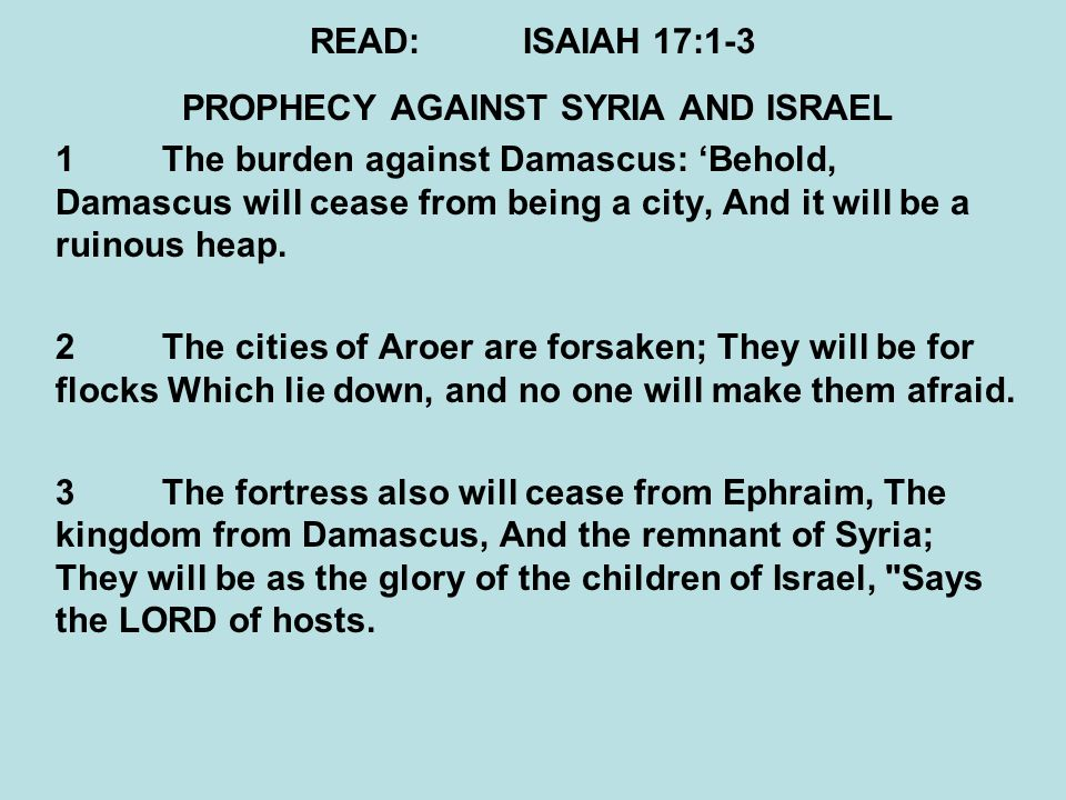 Image result for Isaiah to Malachi+syria+israel+prediction