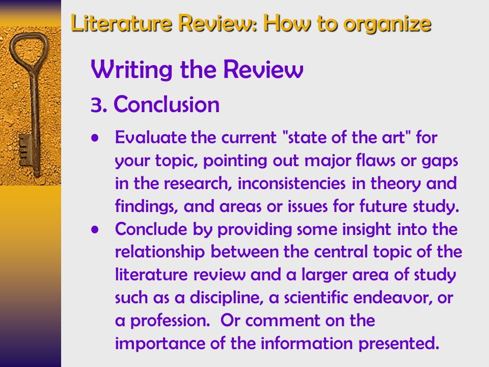 how to organize literature review in thesis