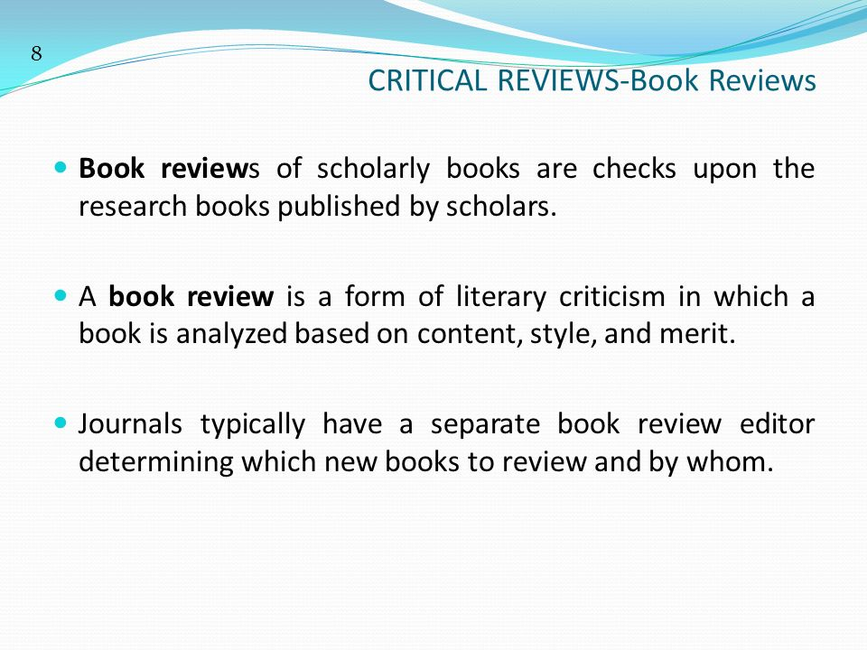 a critical book review of decisive The purpose of a critical book review is to demonstrate a solid understanding of the material and to critique the concepts the book contains it is more analytical than a book report, but requires less research than a term paper or critical essay.