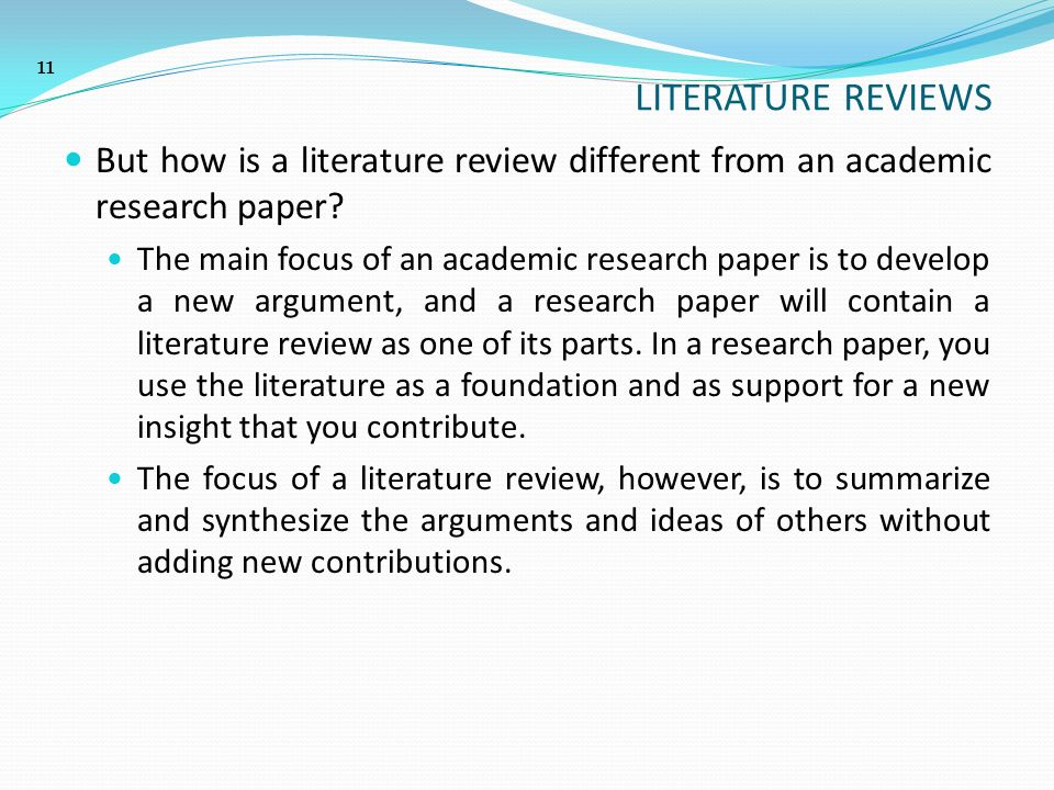 penulisan karya ilmiah scientific academic writing ppt  but how is a literature review different from an academic research paper