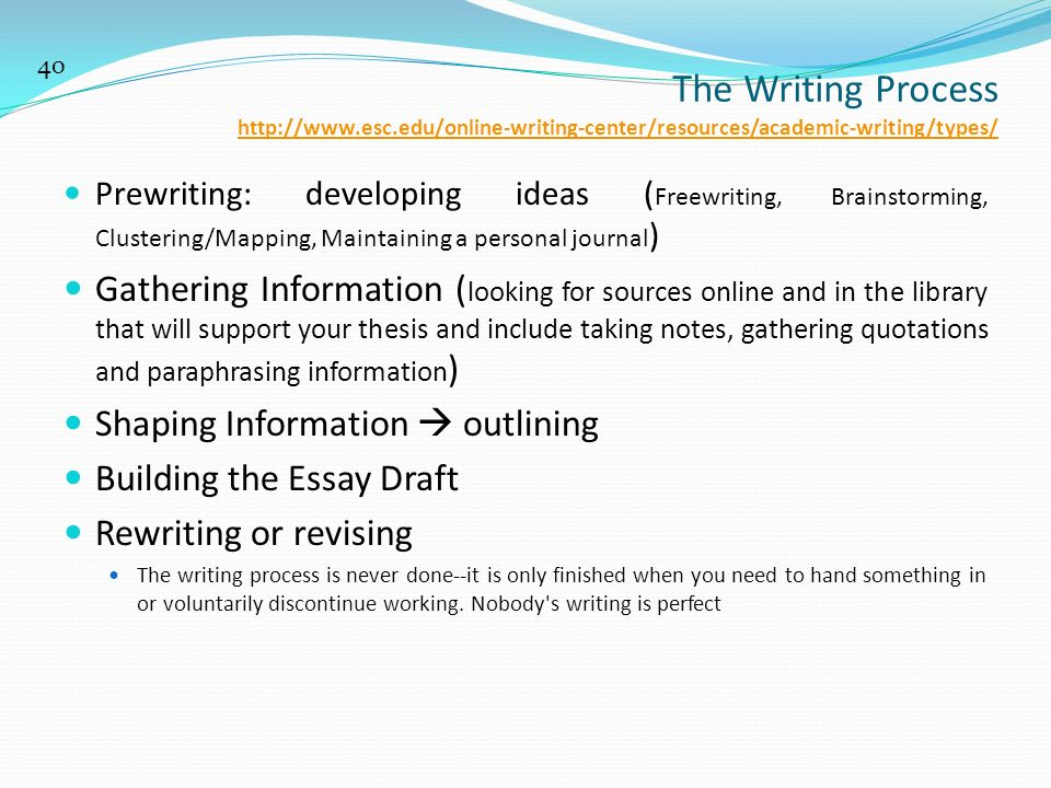 5 Different Types of Essays